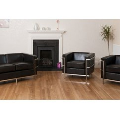 Cream Leather Sofa Set Uk Bargain Sofas Black With Chrome Frame - Homegenies