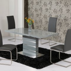 Dining Table And Chair Set Uk Lafuma Zero Gravity Extending Grey High Gloss 4 Chairs