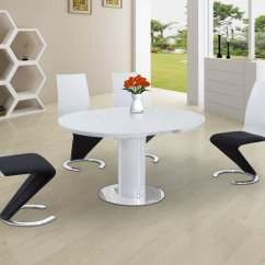 White High Gloss Dining Table 6 Chairs Turquoise Desk Chair Target Round Glass And Black With
