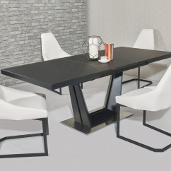 White 6 Chair Dining Table Rubber Mat For Hardwood Floors Matt Black Glass And Chairs Homegenies