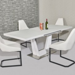 White 6 Chair Dining Table Kitchen Chairs Matt Glass And Homegenies