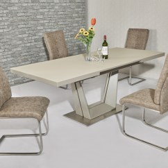 Black Dining Sets With 6 Chairs Best Office Chair For Lower Back Issues Matt Cream Glass Table & 8 - Homegenies