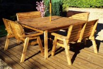 8 Seater Square Dining Table Set Including 1 X