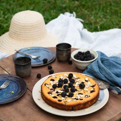 BLACKBERRY & RICOTTA TORTA + Homemade: Fresh Ricotta