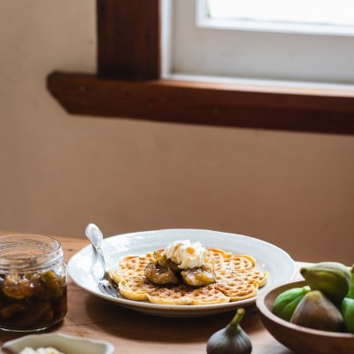 FIG & GINGER PRESERVE + Cornmeal & Buttermilk Waffles