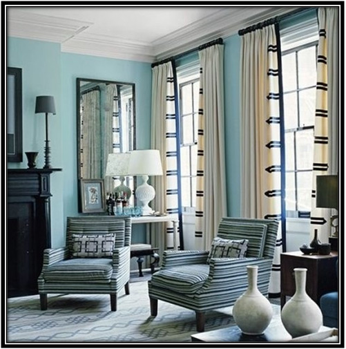 Curtains With Contrasting Trims Home Decor Ideas