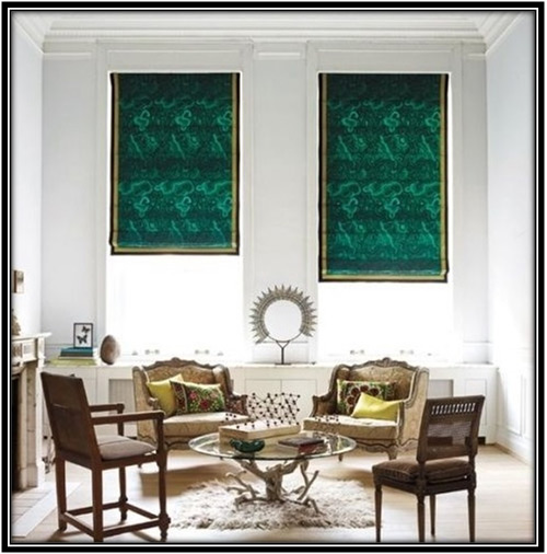 Malachite Pattern Shades Curtains Home Decor Ideas