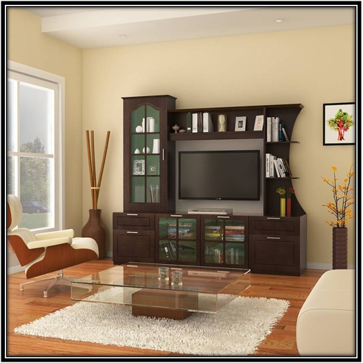 An entertainment unit with engineered wood - home decor ideas
