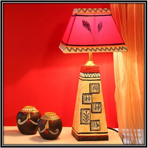 Handpainted Table Lamp - home decor ideas