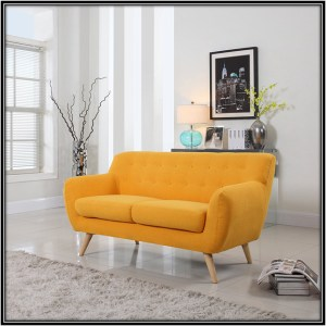Yellow Linen Fabric Sofa Home Decor Ideas