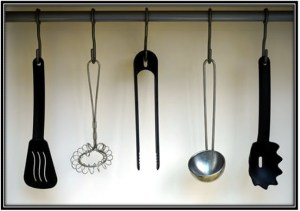 Install a bunch of hooks-Home Decor Ideas