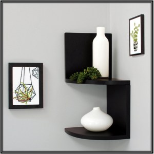 Two Tier Corner Shelves Home Decor Ideas
