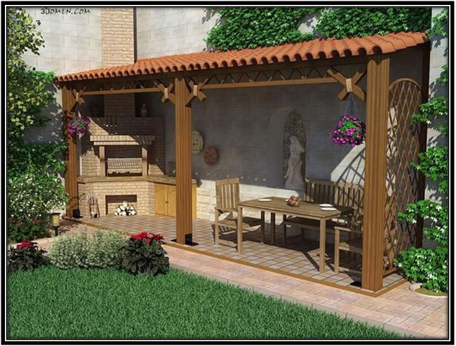 Backyard Into An Outdoor Kitchen Home Decor Ideas