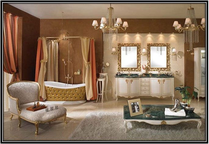 Gold Lavish Bathroom Home Decor Ideas