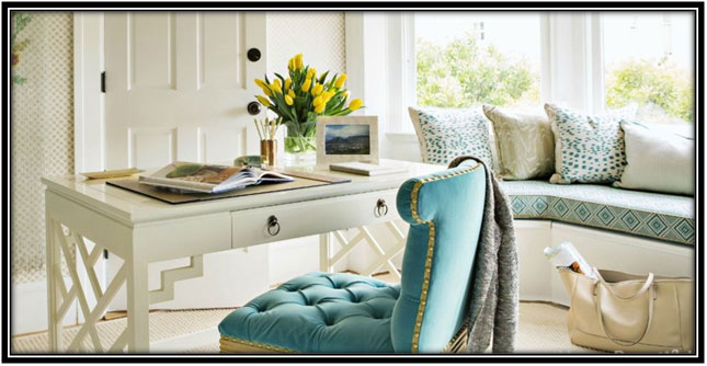 Living Room Into Office Home Office Decoration Ideas