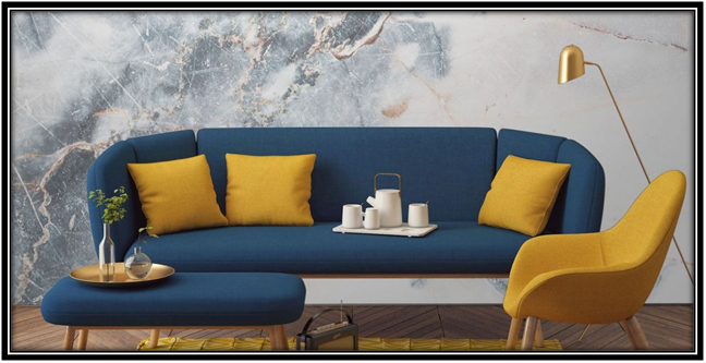 Combination Of Blue And Mustard 2017 Home Decor Trends