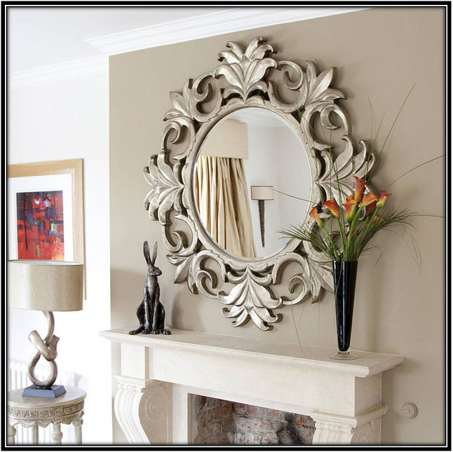 Mirror With Artistic Frame Interior Decorating Ideas