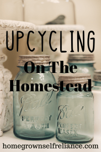 Upcycling on the homestead is a great way to save money. Read here to get some inspiration on what to repurpose around your homestead! #homesteading #upcycling #recycling #begreen #frugal