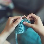 Skill building while you're stuck inside - knitting