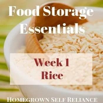Rice - Food Storage Essentials