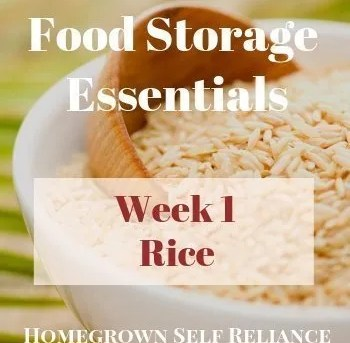 Food Storage Essentials - Week 1 - Rice