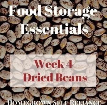 Food Storage Essentials - Week 4 - Dried Beans