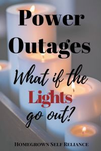 Power outages are inevitable, and every family should be prepared for even short term power outages. Read this post to find out how to prepare for power outages.