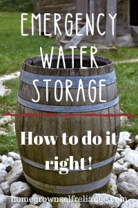 Emergency water storage is vitally important for your survival! Read here to find out how and why to store water for emergencies! #emergencyprep #preparedness #prepping #prepperlife
