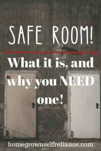 Two doors in concrete - safe room - what it is, and why you need one