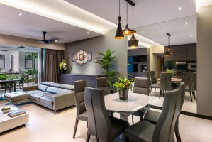 Singapore condominium interior design at the Grand Duchess