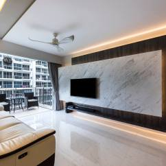 Dark Grey Laminate Flooring Living Room 2 Tv Panel Designs For Interior Design Citylife At Tampines By Home Guide