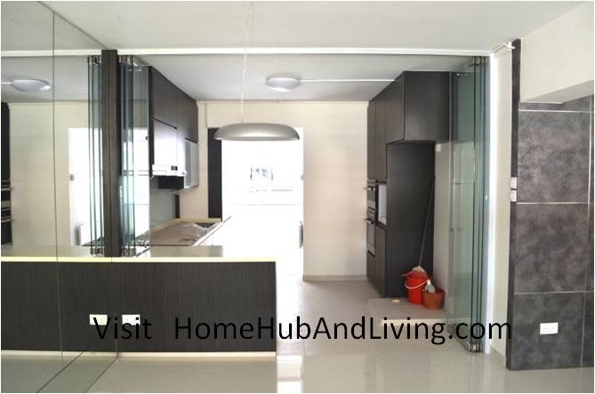 Stylish Designed Modern Kitchen Counter Top Island with Frameless Door System Designs as