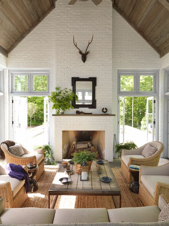 brick wall fireplace ideas 8