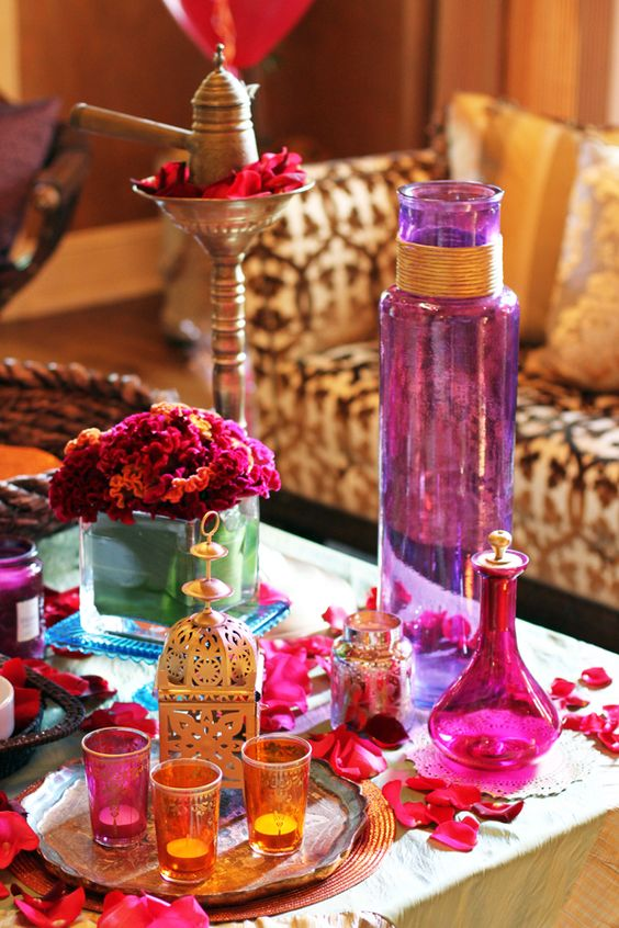 Jewel Tones Diwali Decoration Idea. Diwali Decoration Ideas 8