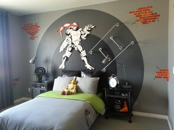 A Ninja Turtle Room Idea For Grown Up Boys. ...