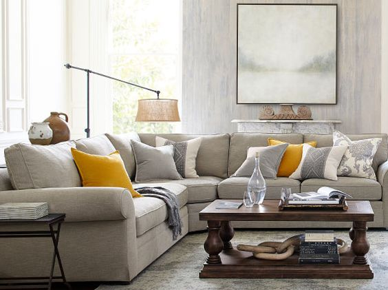 Muted Tone Living Room Idea From Pottery Barn. ... Pictures Gallery