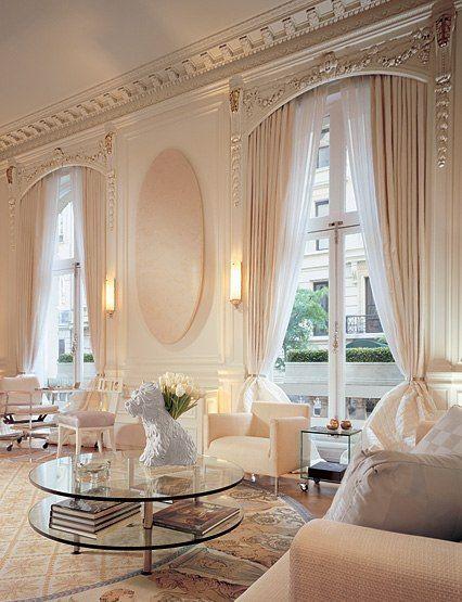 Layered Window Treatment Idea For Large Windows In Living Room. Window  Treatments Ideas ...