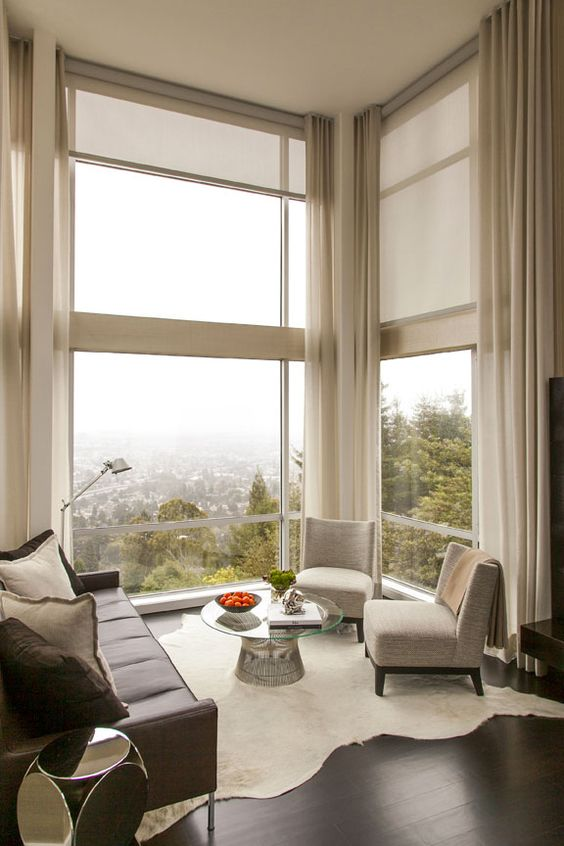 Astonishing Window Treatments for Large Windows in Living ...