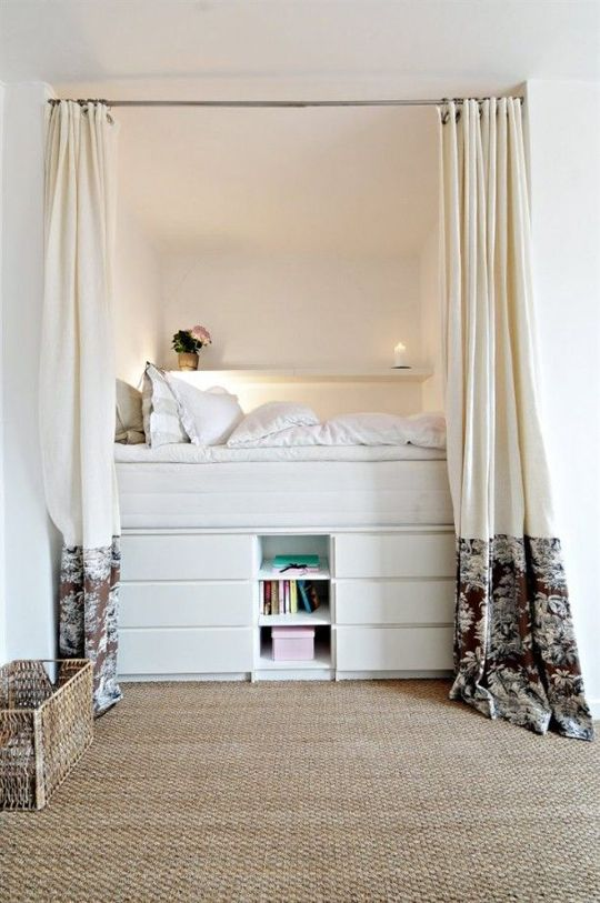 Platform with bedroom cabinet ideas for small spaces. ...