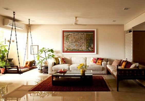 Beau Neutral Living Room Designs Indian Style. ...