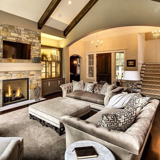 ... Living Room Layout Fireplace And TV 4 1