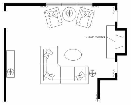 TV Over Fireplace Layout Of A Living Room. ... Part 84