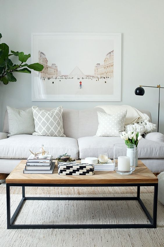 dominant white ideas for a simple living room - Simple Living Room