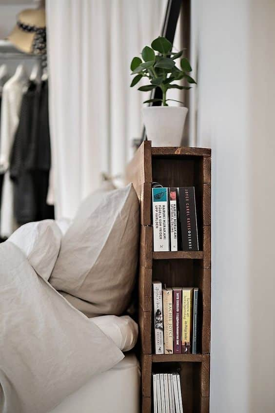 small bedroom storage. Headboard bookshelf for small bedroom storage and organization ideas  12 Resourceful Small Bedroom Storage Organization Ideas Home