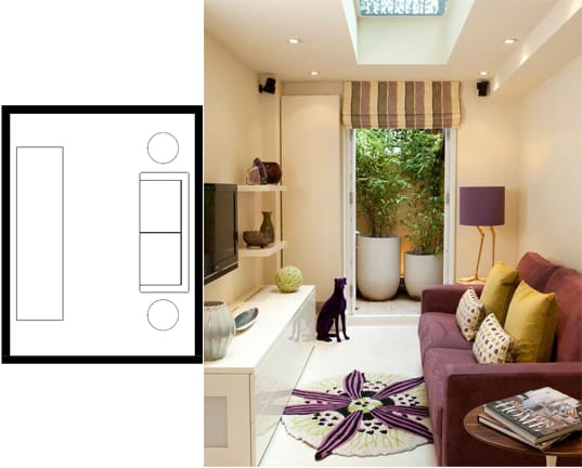 small living room layouts with TV 10