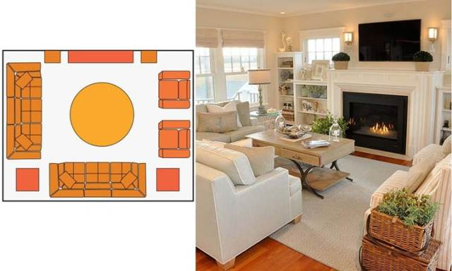 small living room layouts with TV 6
