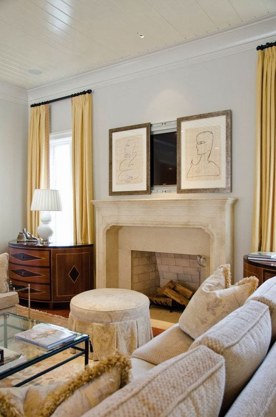tv over the fireplace ideas 10