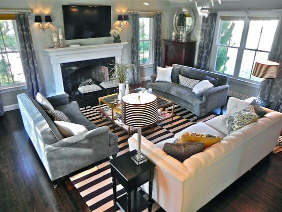 tv over the fireplace ideas 12