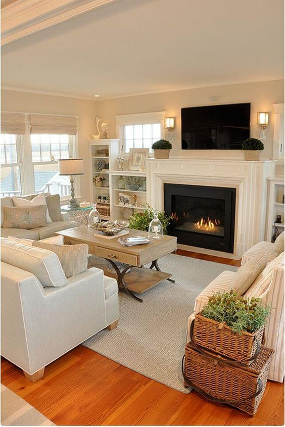 how to decorate living room with tv over fireplace colors gray couch 12 incredible solutions for ideas home hq the 4