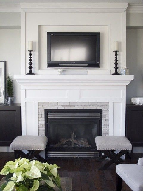tv over the fireplace ideas 5